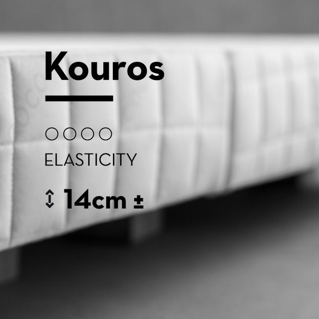 Bed Base Kouros & Bed Base Kouros with embedded fabric