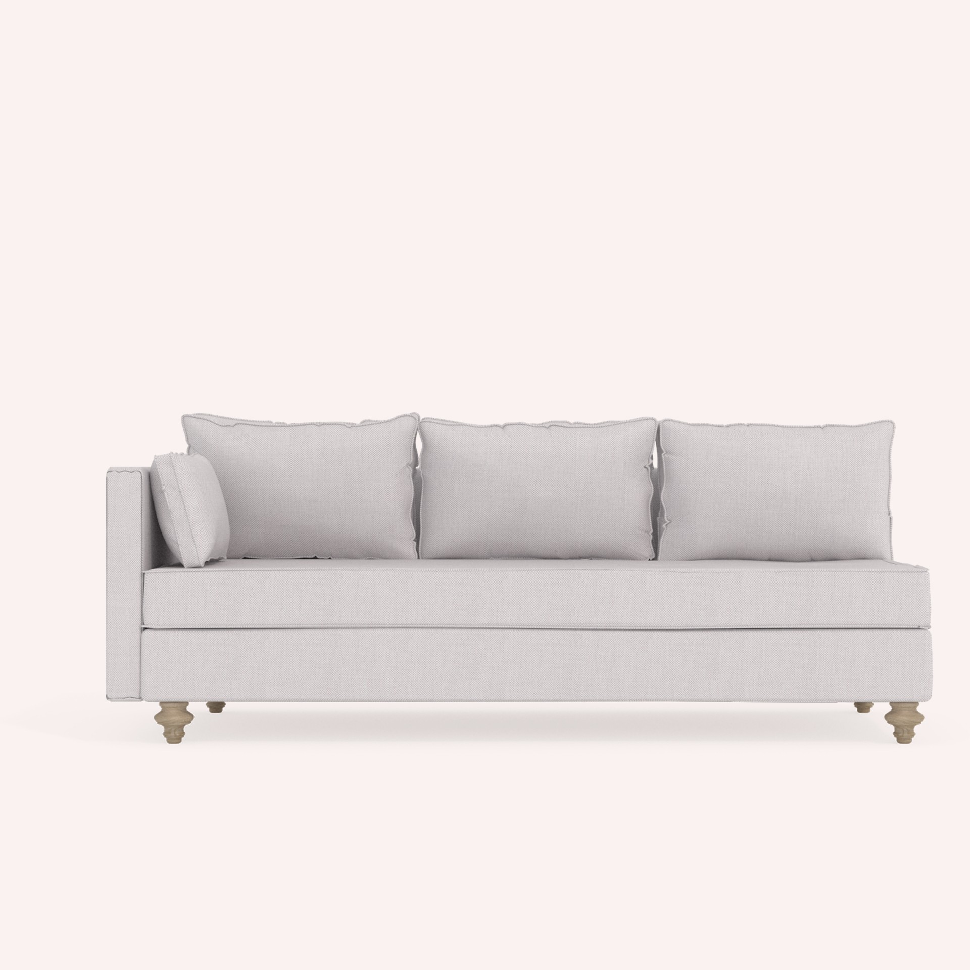 3-seat sofa Myrsini with one arm