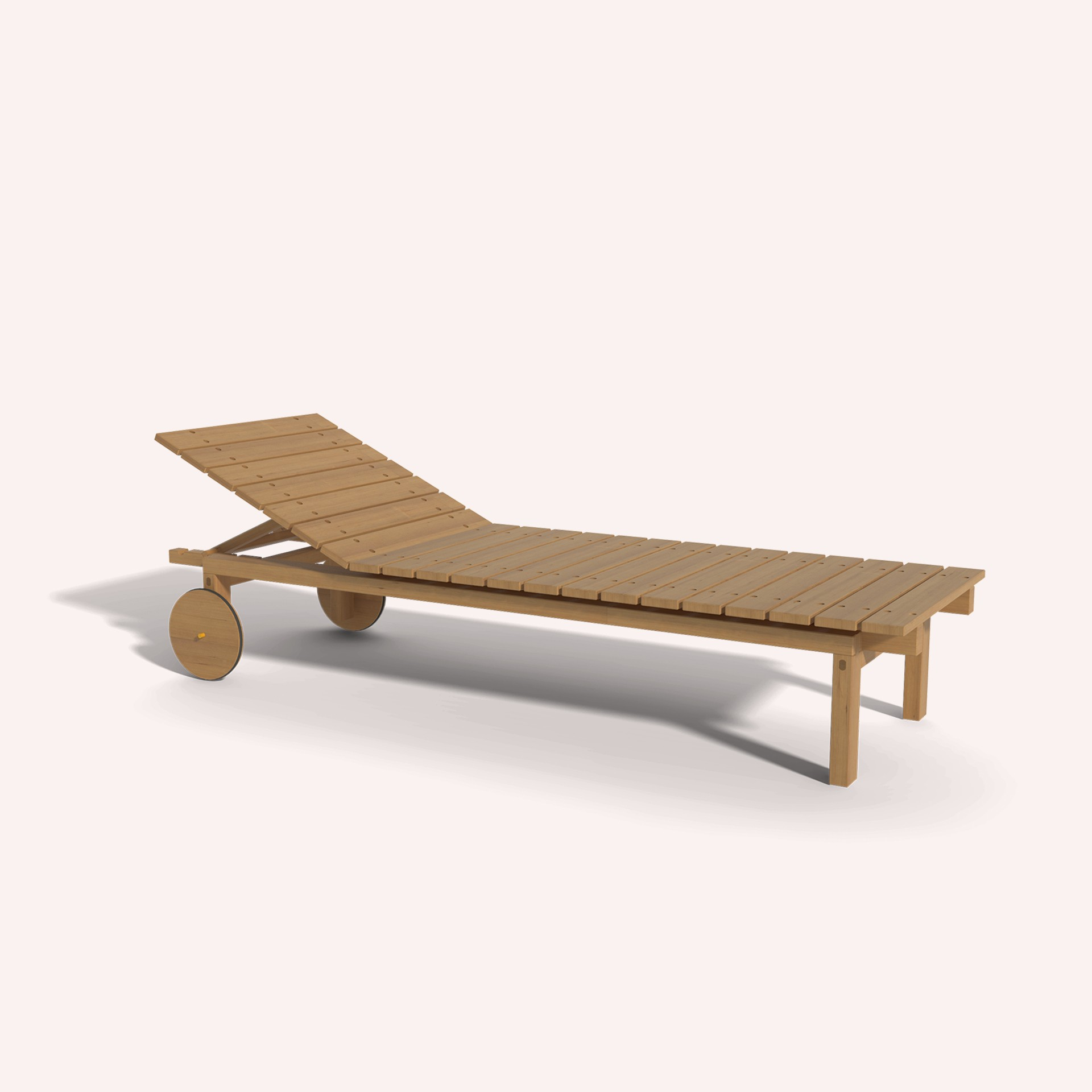 Wooden Deck Chair Ilios