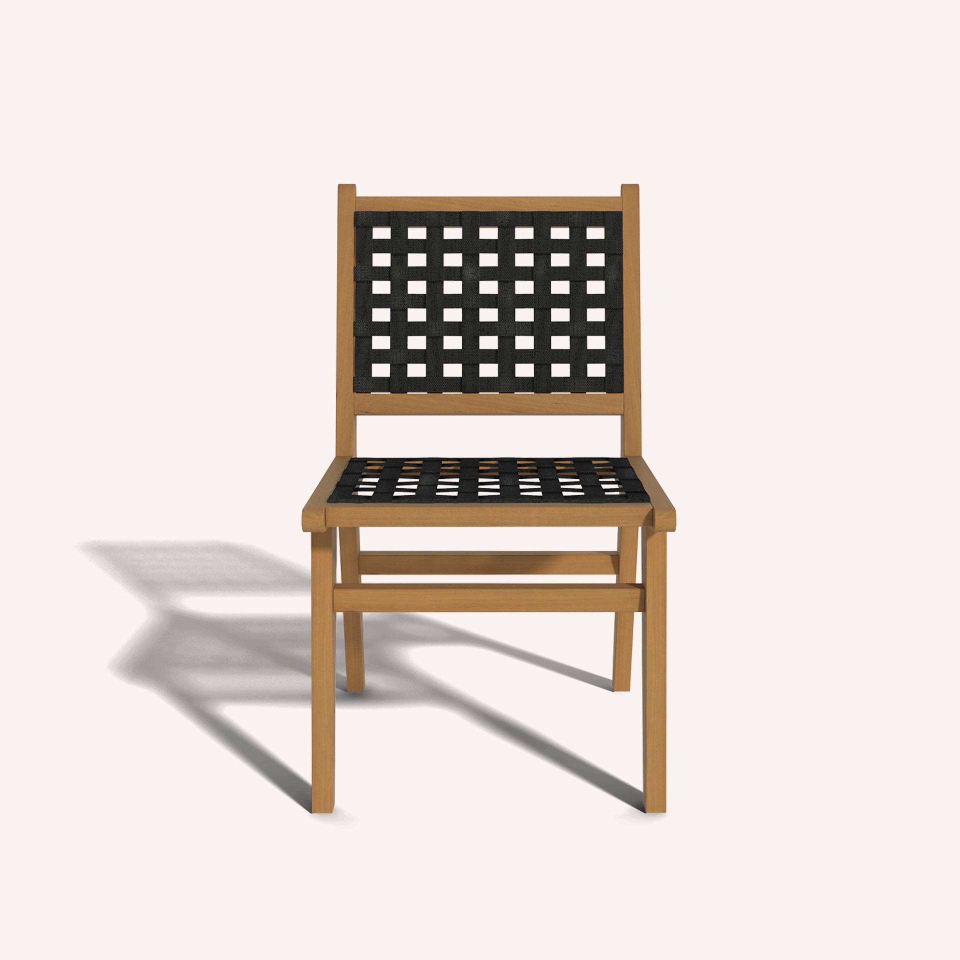 Wooden Dining Chair Ilios with fabric webbings