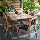 Wooden Dining Chair Ilios with fabric webbings thumbnail
