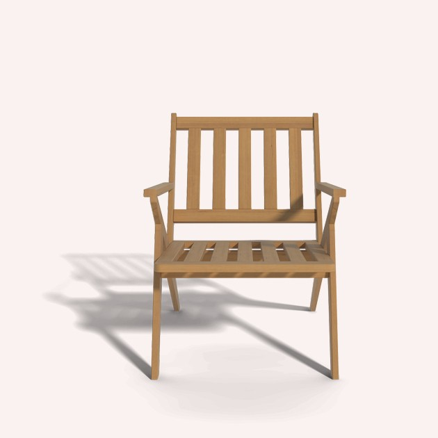 Wooden Arm Chair Ilios
