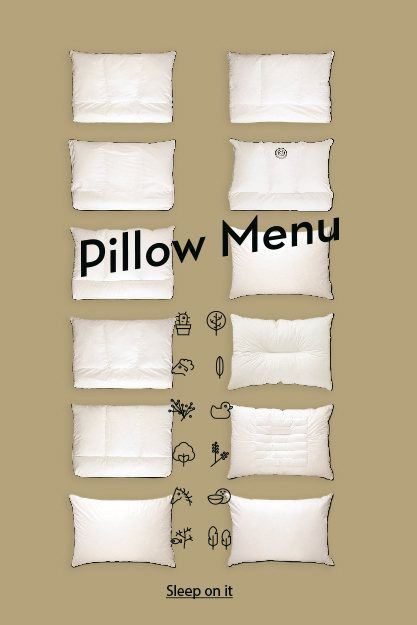 Coco-Mat Pillow Menu